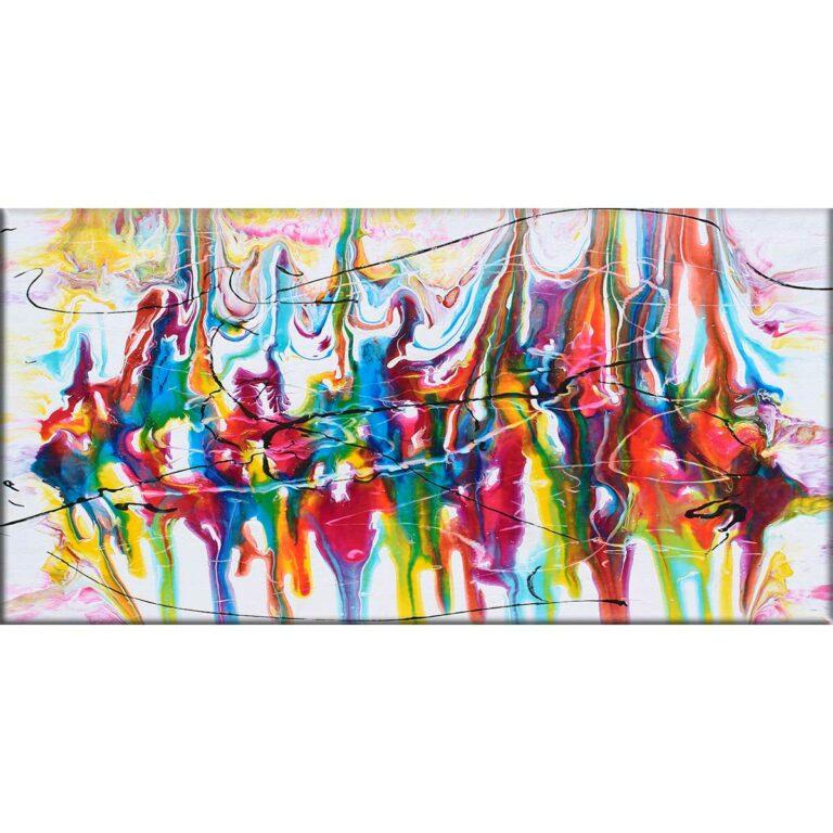 Großes Leinwandbild XXL mit trendigen Farben Heroic I 70x140 cm
