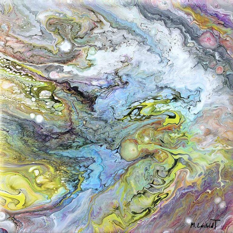 Kleines Wandbild mit zeitaktuellem Design Monsoon I 30x30 cm