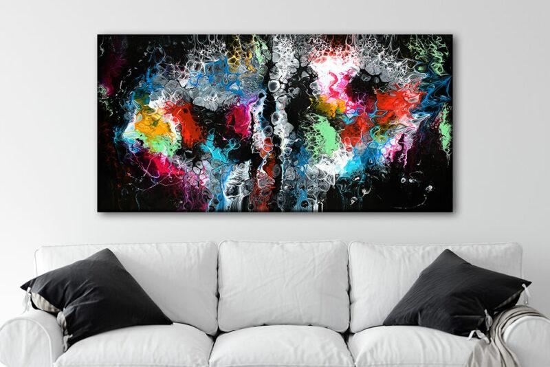 Kunstdruck auf Leinwand für die Wand überm Sofa Lights I 70x140 cm