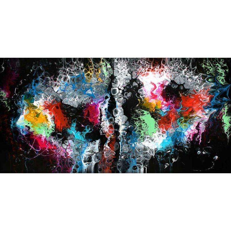 Kunstdruck auf Leinwand in schöne Farben Lights I 70x140 cm
