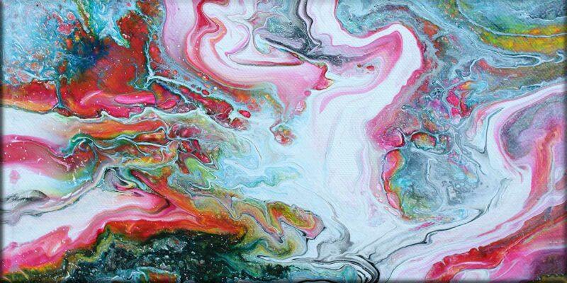 Leinwand mit Kunstdruck in modernem Stil Flows I 70x140 cm