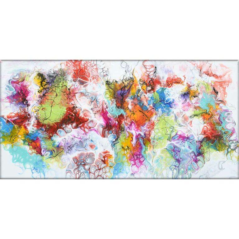 Leinwandbild mit moderner Kunst Fusion I 70x140 cm