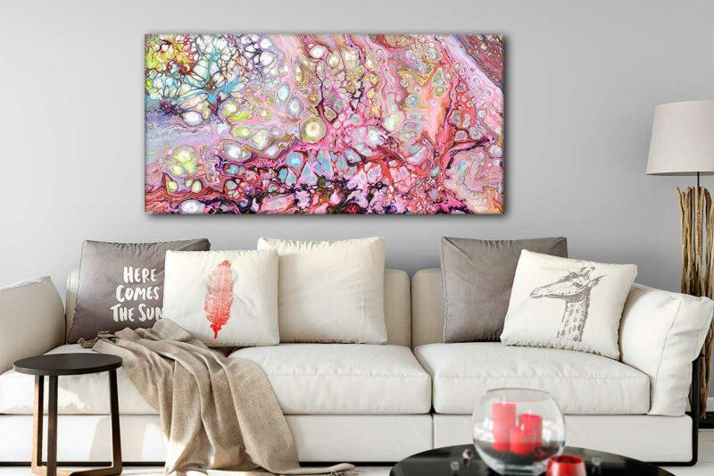 Midernes Leinwandbild für Wohnzimmer Passion I 70x140 cm