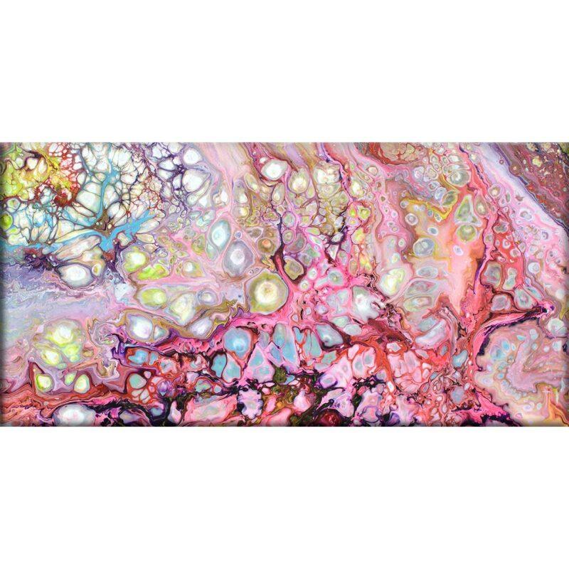 Modernes Leinwandbild mit bunten Farben Passion I 70x140 cm